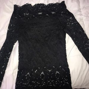 Tops - XS Black lace top off the shoulder